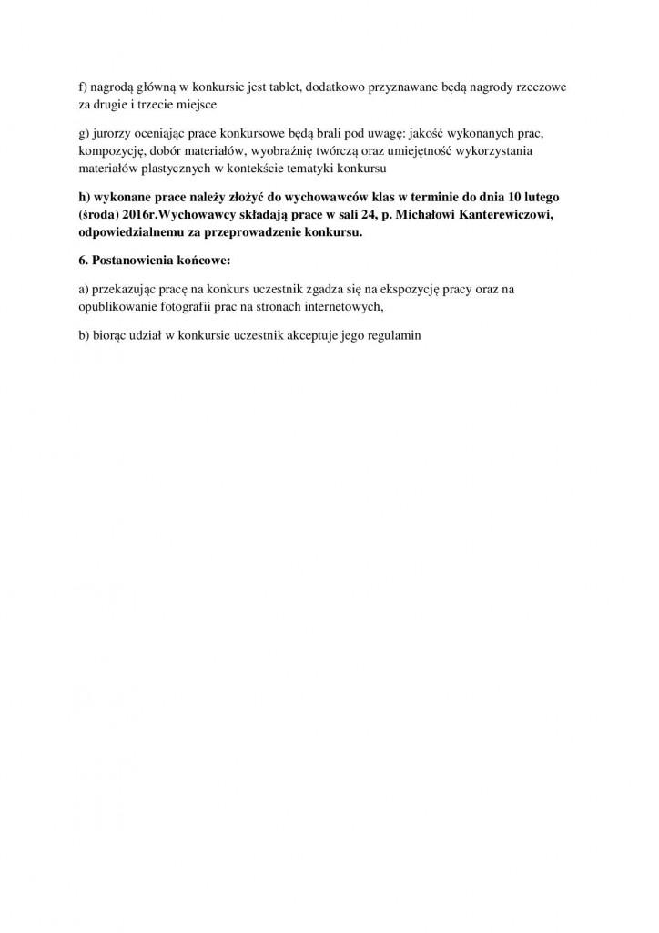 Regulamin konkursu  plastycznego Mikołaj Kopernik 22
