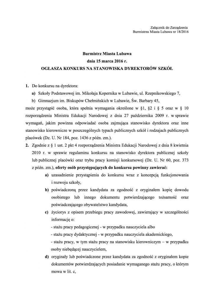 Załącznik nr 1 - ogloszenie - konkurs na dyrektorów szkó³2