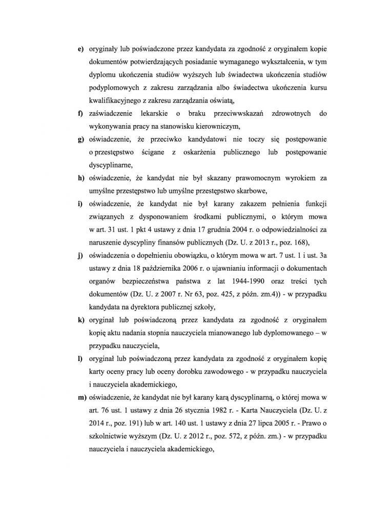 Załącznik nr 1 - ogloszenie - konkurs na dyrektorów szkó³3