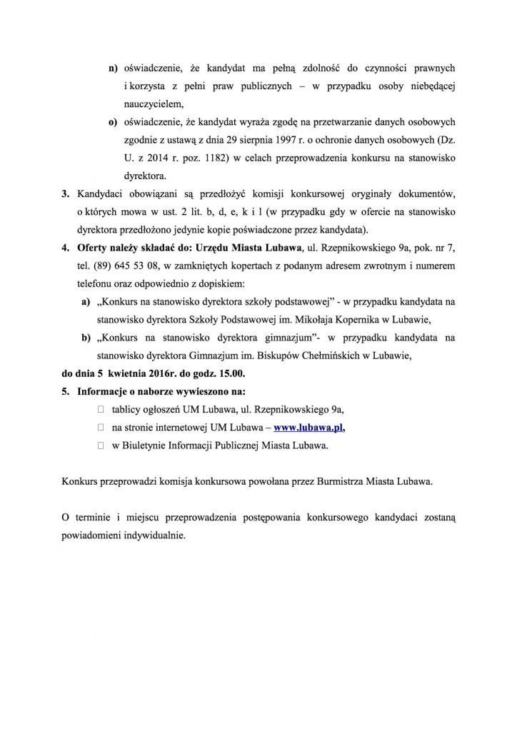 Załącznik nr 1 - ogloszenie - konkurs na dyrektorów szkó³4