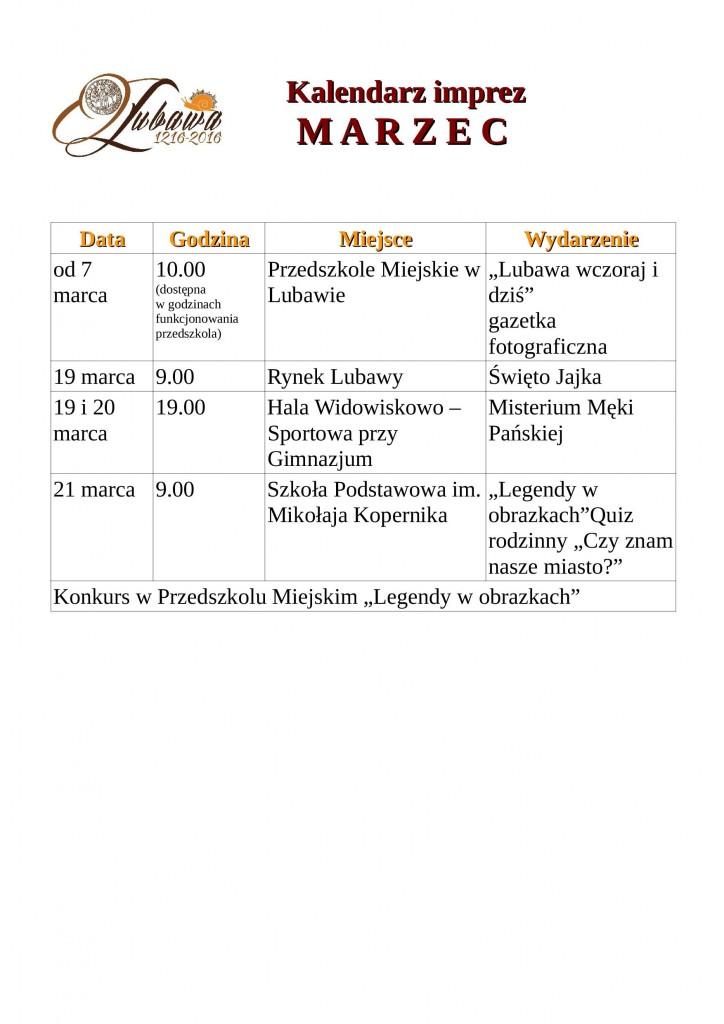 kalendarz jubileuszowymarzec1