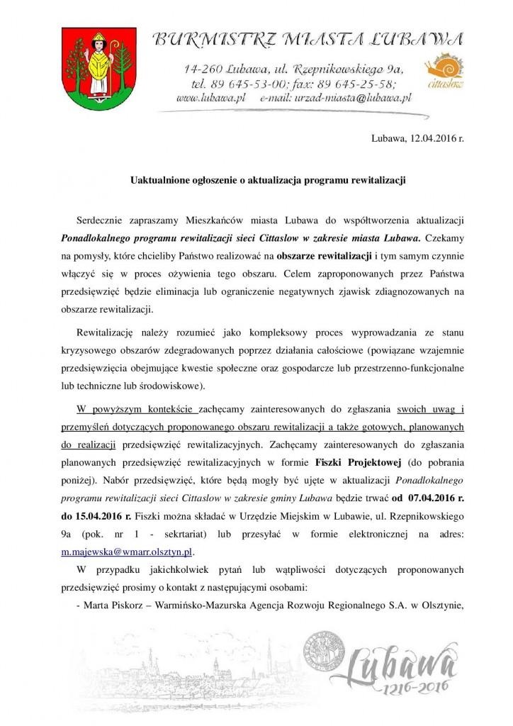 uaktualnione ogłoszenie o konsultacjach (1)1